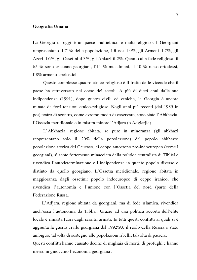 Anteprima della tesi: Dal collasso ad una lenta rinascita. La Georgia dal 1989 al 2000, Pagina 4