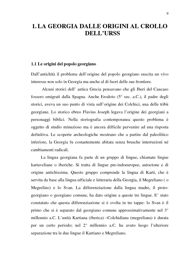 Anteprima della tesi: Dal collasso ad una lenta rinascita. La Georgia dal 1989 al 2000, Pagina 6