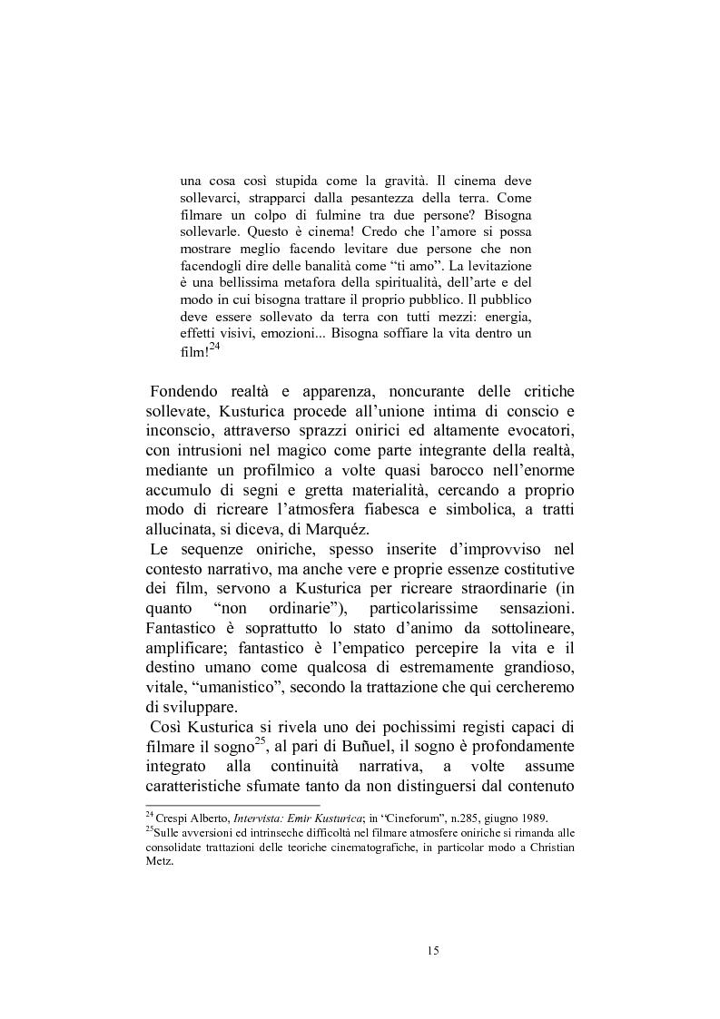 Anteprima della tesi: Umanesimo e nomadismo in Emir Kusturica - L'avventura cinematografica di uno slavo, Pagina 12