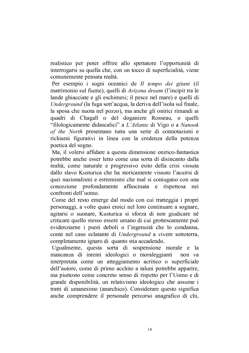 Anteprima della tesi: Umanesimo e nomadismo in Emir Kusturica - L'avventura cinematografica di uno slavo, Pagina 13