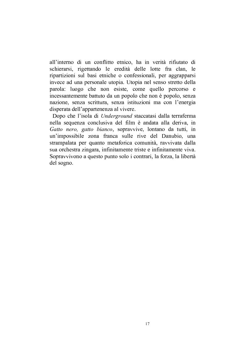 Anteprima della tesi: Umanesimo e nomadismo in Emir Kusturica - L'avventura cinematografica di uno slavo, Pagina 14