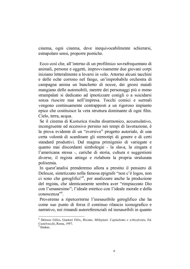 Anteprima della tesi: Umanesimo e nomadismo in Emir Kusturica - L'avventura cinematografica di uno slavo, Pagina 3
