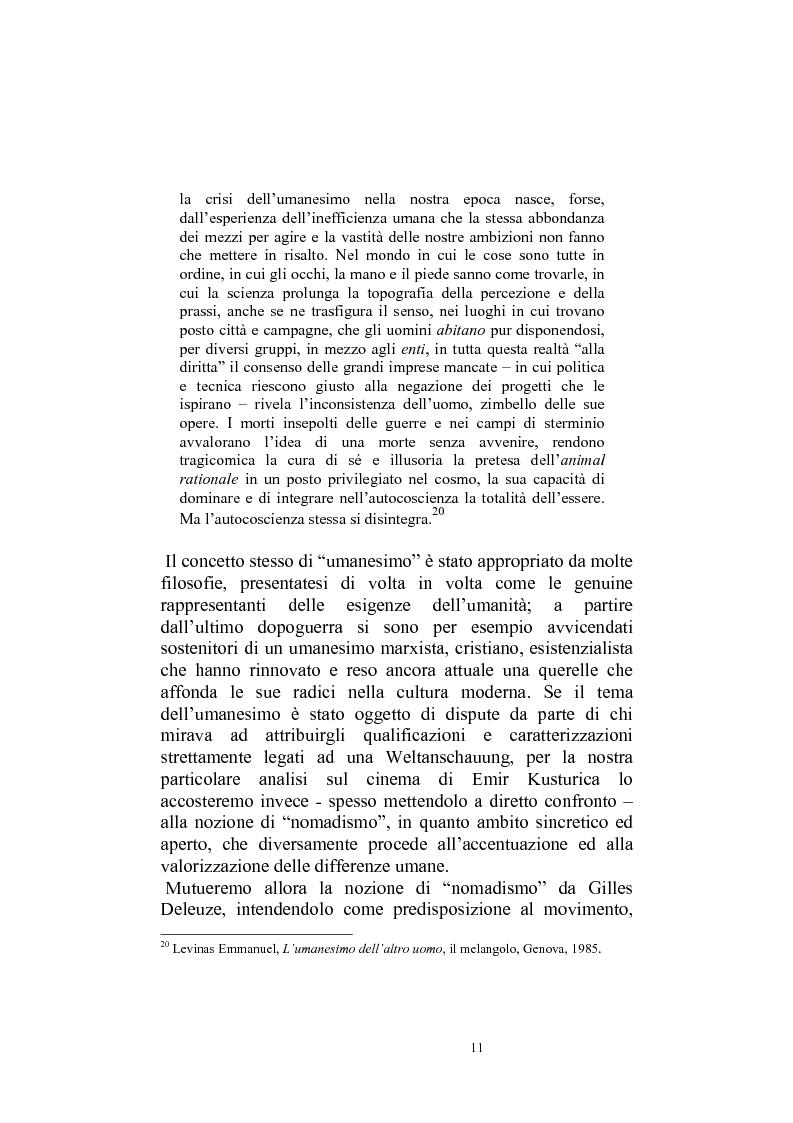Anteprima della tesi: Umanesimo e nomadismo in Emir Kusturica - L'avventura cinematografica di uno slavo, Pagina 8