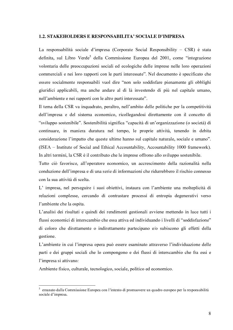Anteprima della tesi: Gestione di impresa e bilancio sociale: il caso della Monte d'Oro s.c., Pagina 4
