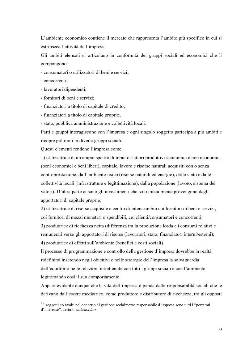 Anteprima della tesi: Gestione di impresa e bilancio sociale: il caso della Monte d'Oro s.c., Pagina 5