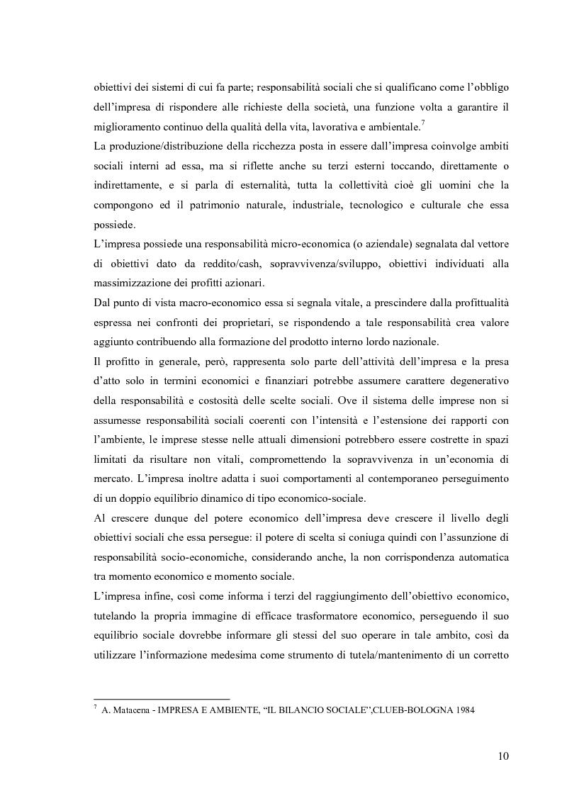 Anteprima della tesi: Gestione di impresa e bilancio sociale: il caso della Monte d'Oro s.c., Pagina 6