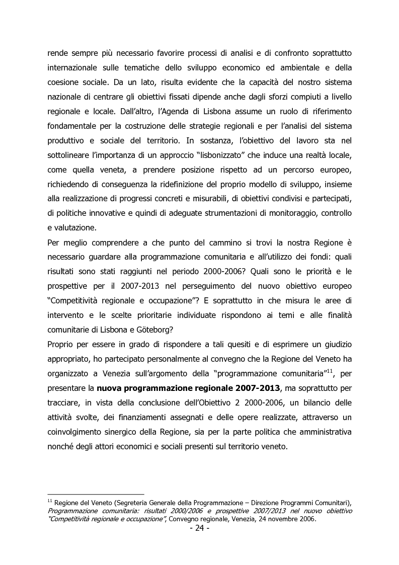 Anteprima della tesi: L'Italia e il rilancio della Strategia di Lisbona - Il caso della Regione Veneto, Pagina 10