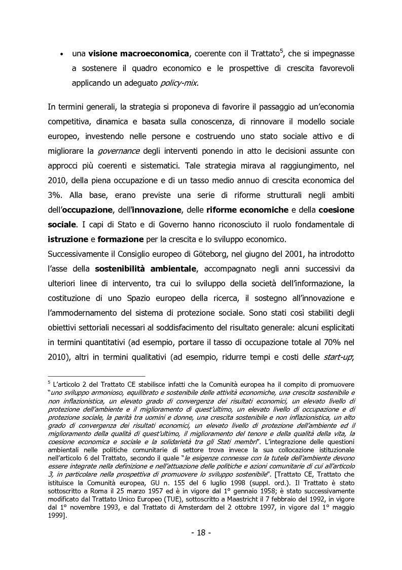 Anteprima della tesi: L'Italia e il rilancio della Strategia di Lisbona - Il caso della Regione Veneto, Pagina 4