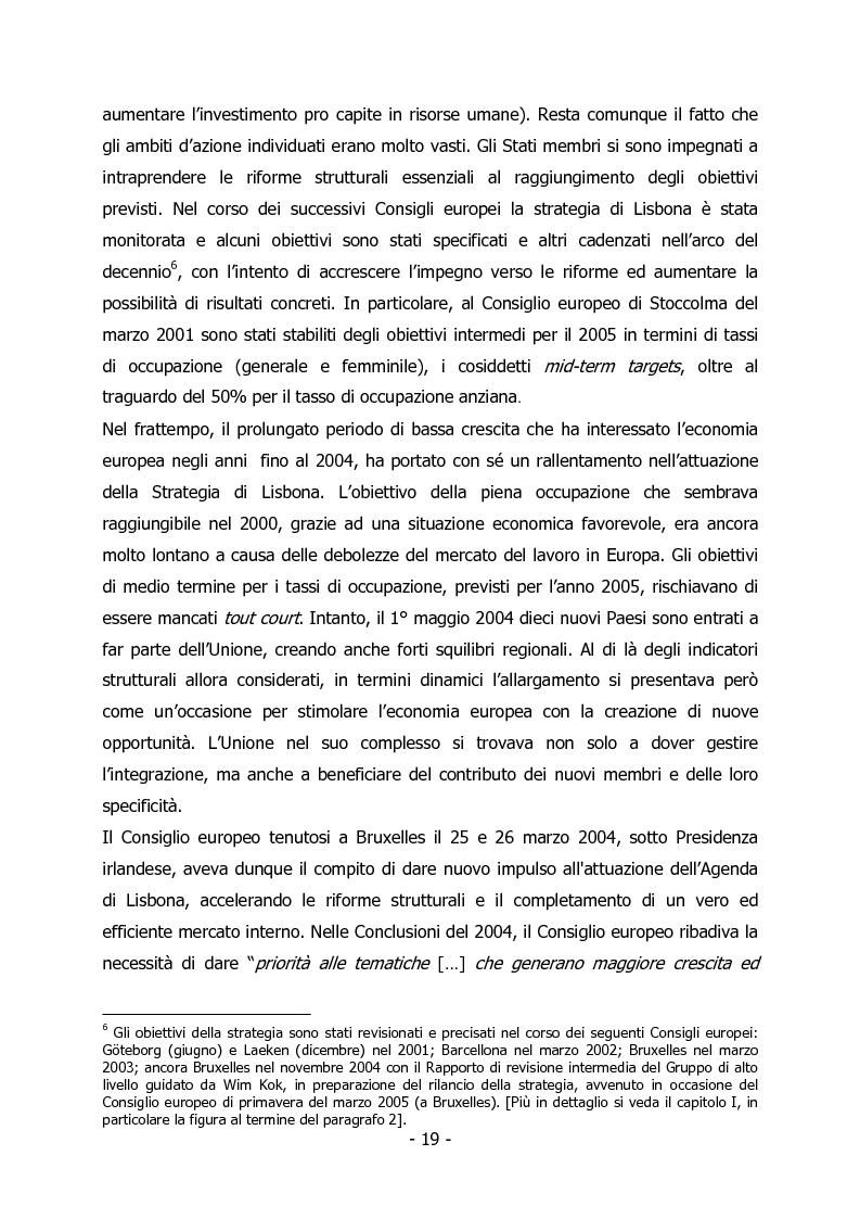 Anteprima della tesi: L'Italia e il rilancio della Strategia di Lisbona - Il caso della Regione Veneto, Pagina 5