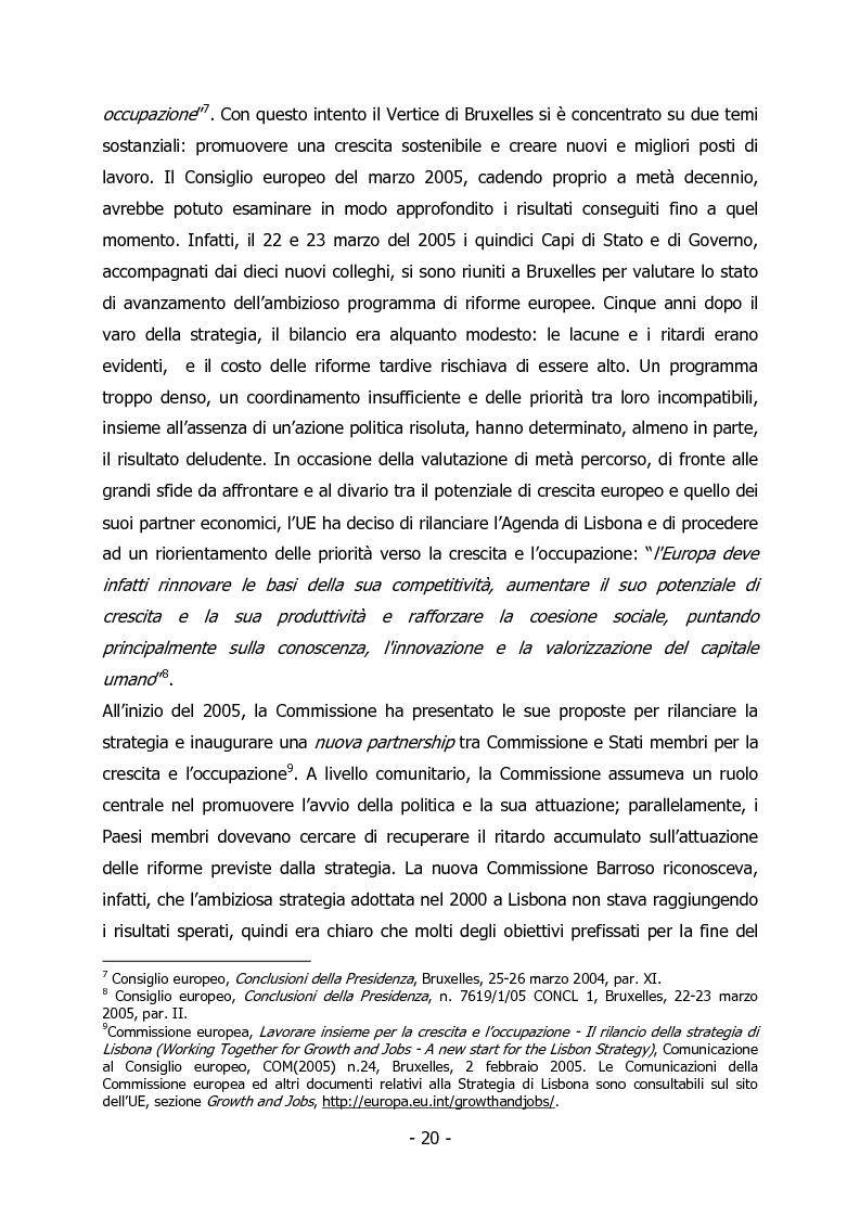 Anteprima della tesi: L'Italia e il rilancio della Strategia di Lisbona - Il caso della Regione Veneto, Pagina 6