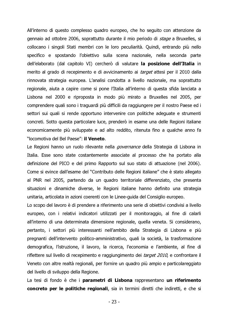 Anteprima della tesi: L'Italia e il rilancio della Strategia di Lisbona - Il caso della Regione Veneto, Pagina 9