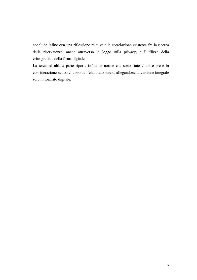 Anteprima della tesi: Firma digitale e sicurezza dei documenti informatici, Pagina 2