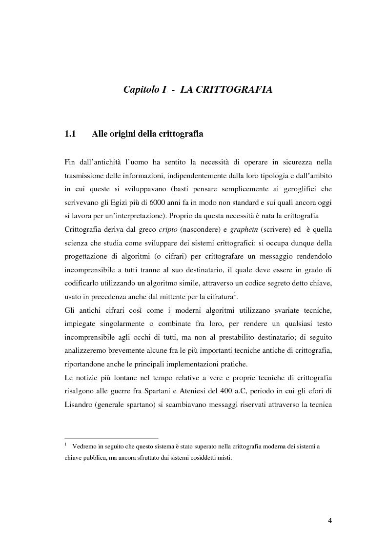 Anteprima della tesi: Firma digitale e sicurezza dei documenti informatici, Pagina 4