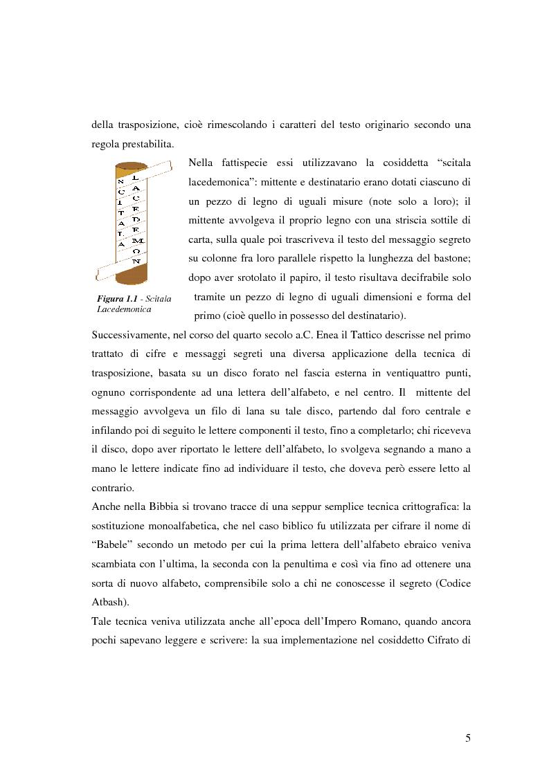 Anteprima della tesi: Firma digitale e sicurezza dei documenti informatici, Pagina 5