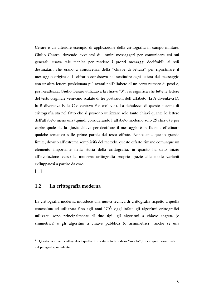 Anteprima della tesi: Firma digitale e sicurezza dei documenti informatici, Pagina 6