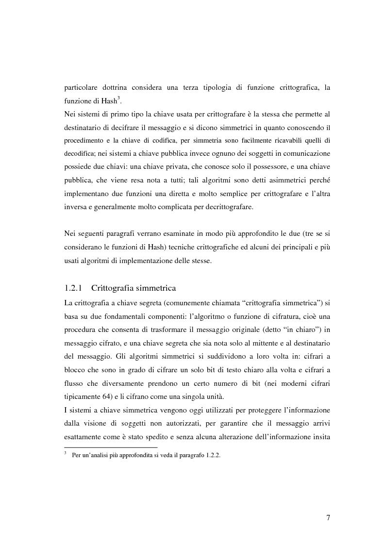 Anteprima della tesi: Firma digitale e sicurezza dei documenti informatici, Pagina 7