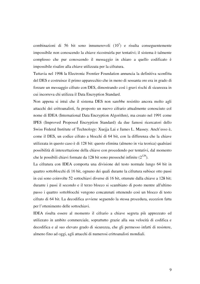Anteprima della tesi: Firma digitale e sicurezza dei documenti informatici, Pagina 9