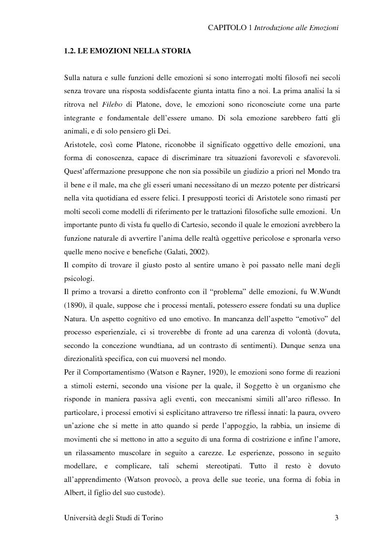 Anteprima della tesi: Attivazione ed interazione corticale nelle emozioni primarie, Pagina 3