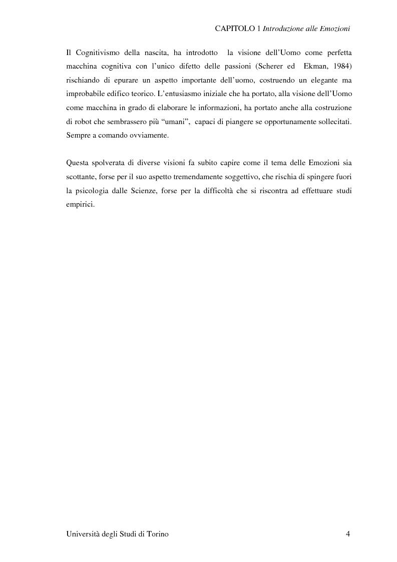 Anteprima della tesi: Attivazione ed interazione corticale nelle emozioni primarie, Pagina 4