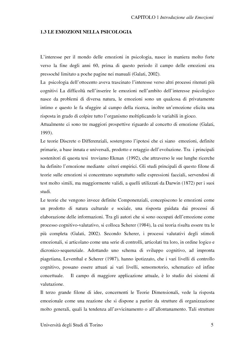 Anteprima della tesi: Attivazione ed interazione corticale nelle emozioni primarie, Pagina 5