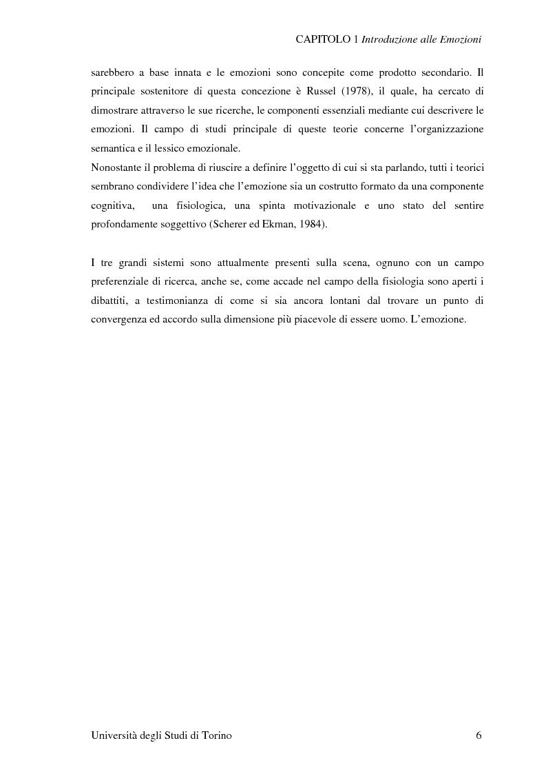 Anteprima della tesi: Attivazione ed interazione corticale nelle emozioni primarie, Pagina 6