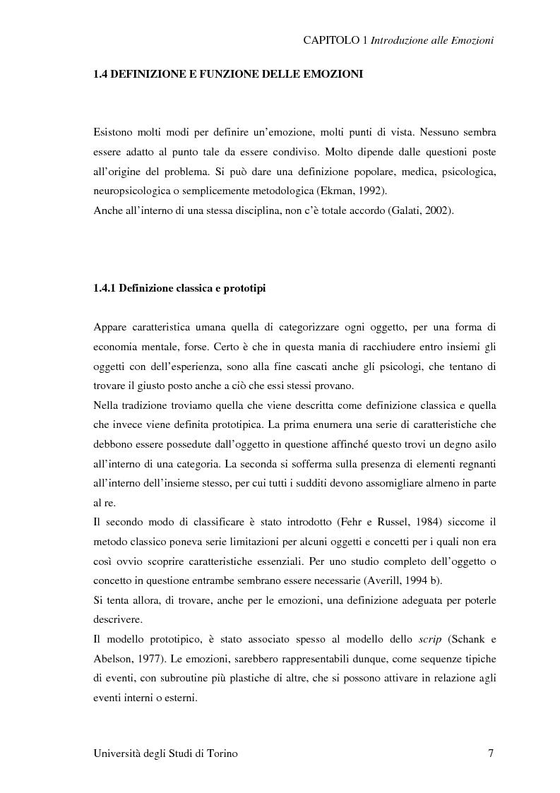 Anteprima della tesi: Attivazione ed interazione corticale nelle emozioni primarie, Pagina 7