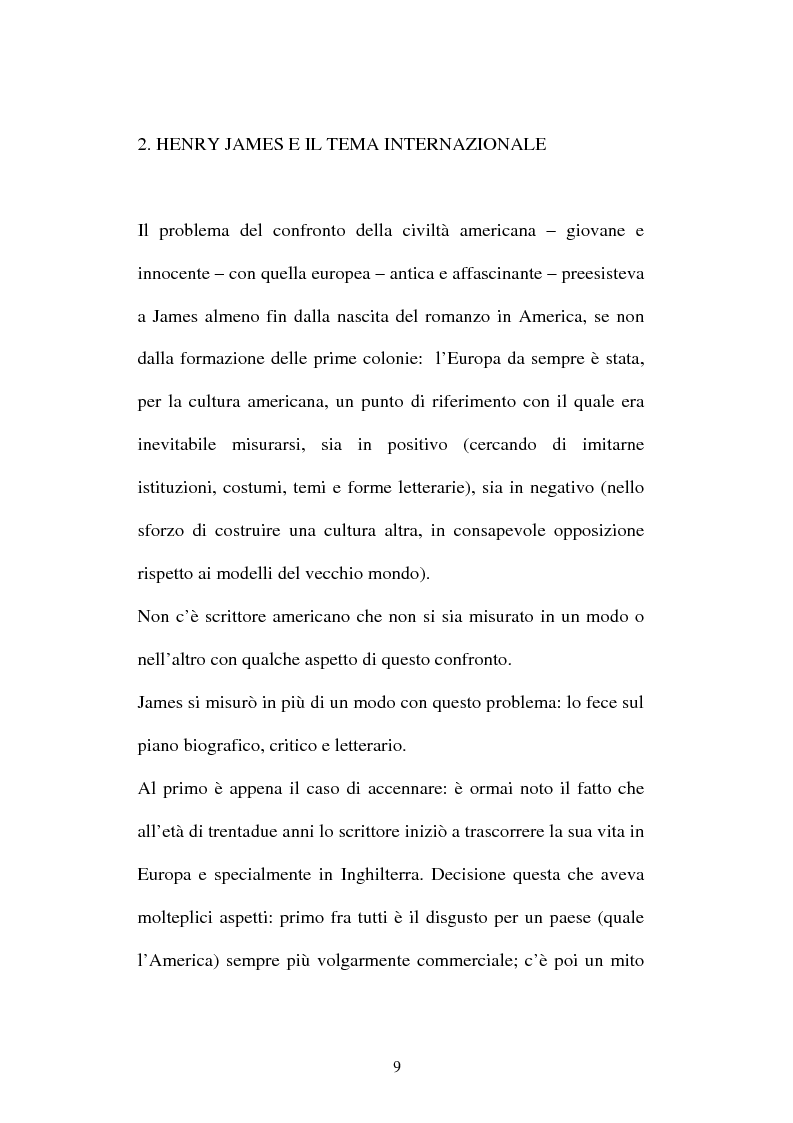 Anteprima della tesi: Italian Versions of - The real thing - by Henry James, Pagina 8