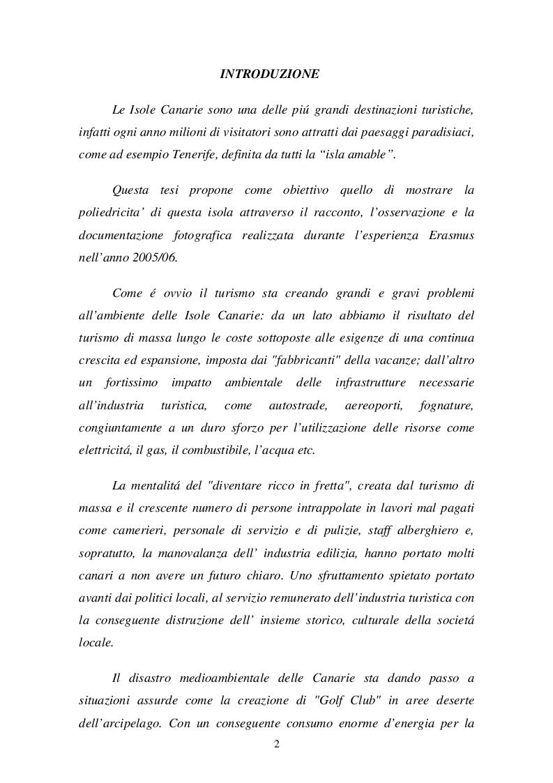 Anteprima della tesi: Isola di Tenerife: Sviluppo turistico e impatto urbanistico, Pagina 2