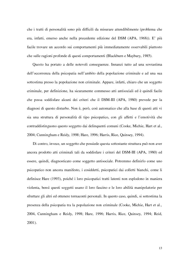 Anteprima della tesi: Personalità e dinamiche violente: sadismo, psicopatia e perversione sadomasochistica, Pagina 13