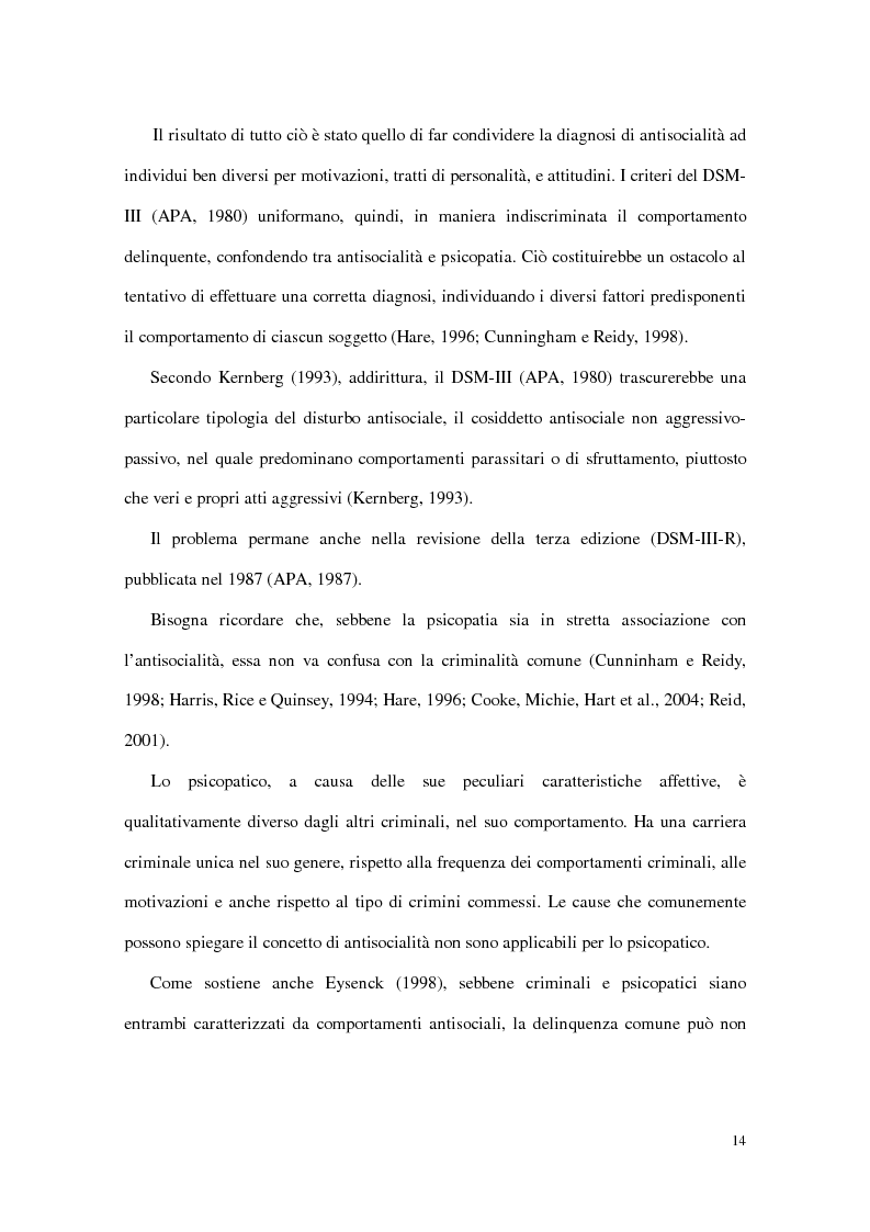 Anteprima della tesi: Personalità e dinamiche violente: sadismo, psicopatia e perversione sadomasochistica, Pagina 14