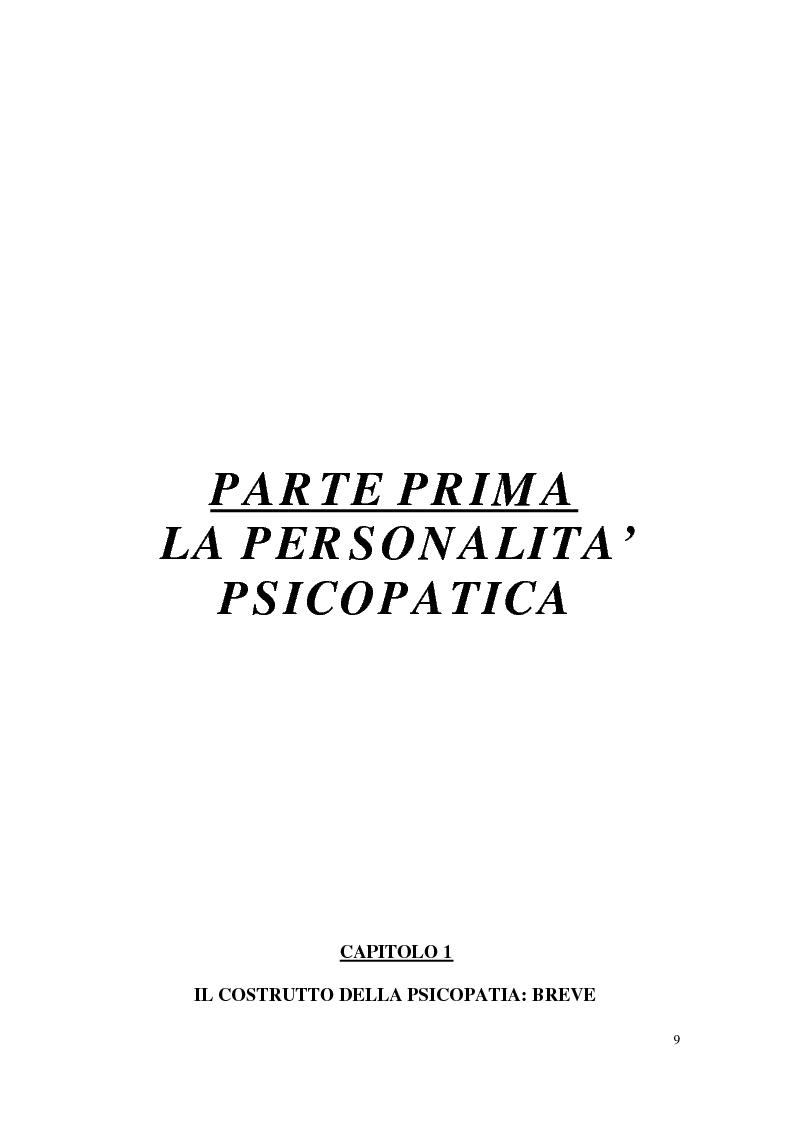 Anteprima della tesi: Personalità e dinamiche violente: sadismo, psicopatia e perversione sadomasochistica, Pagina 9