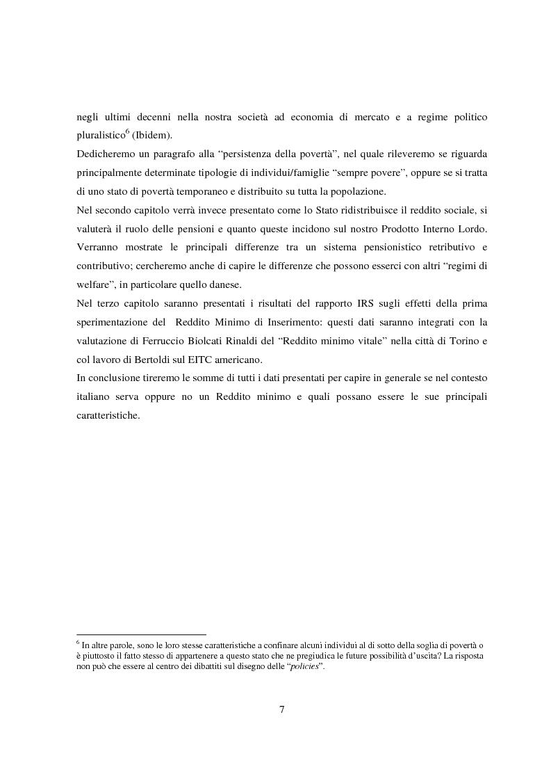 Anteprima della tesi: Reddito minimo di inserimento un'occasione mancata, Pagina 4