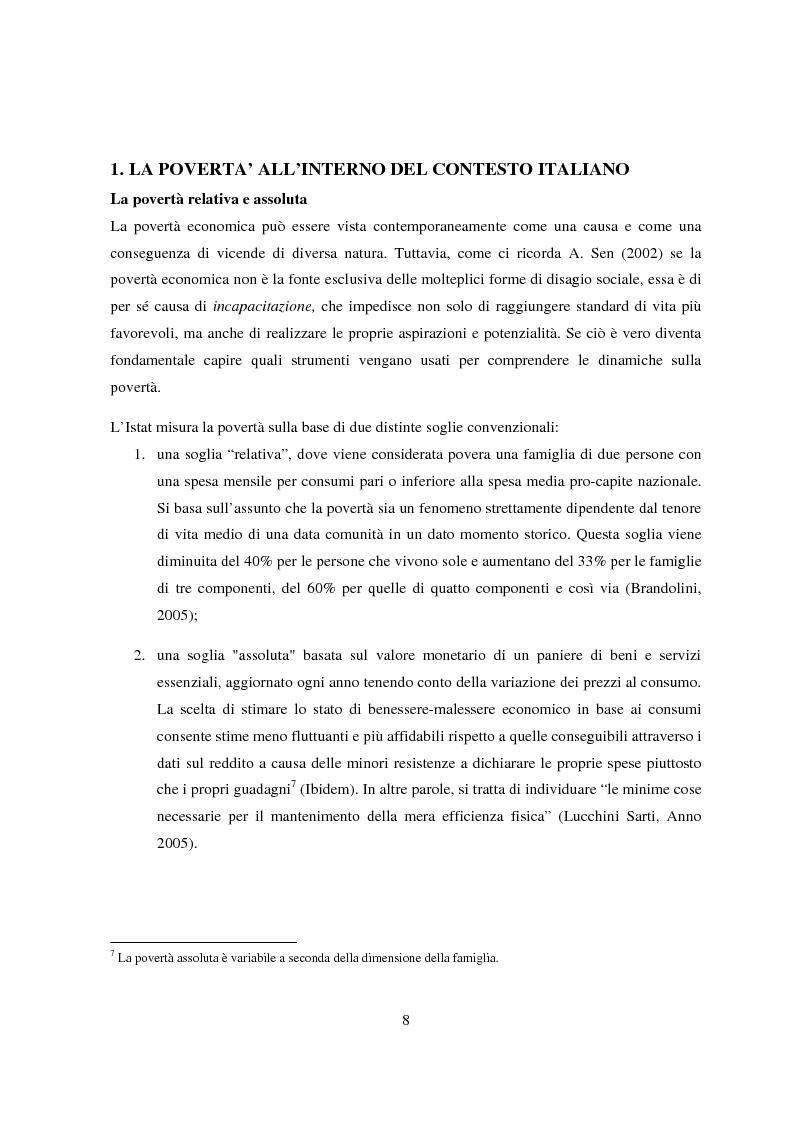 Anteprima della tesi: Reddito minimo di inserimento un'occasione mancata, Pagina 5