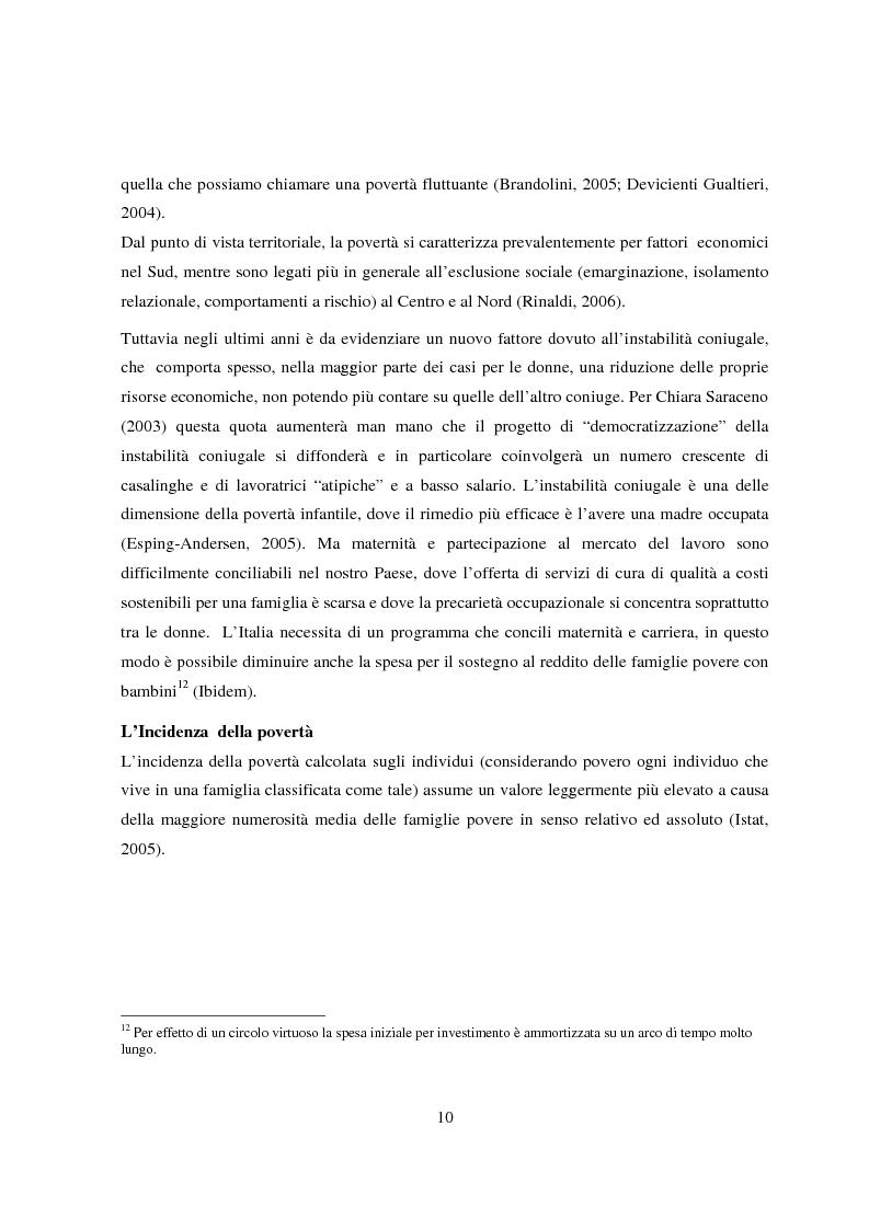 Anteprima della tesi: Reddito minimo di inserimento un'occasione mancata, Pagina 7