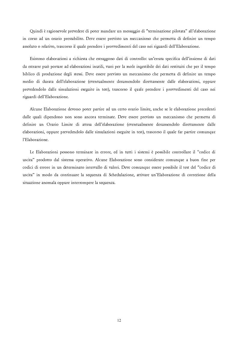 Anteprima della tesi: Analisi e Progetto di un Ambiente Integrato per la Schedulazione di Elaborazioni Orientato alla gestione dei Sistemi Informativi di una Azienda Commerciale, Pagina 10