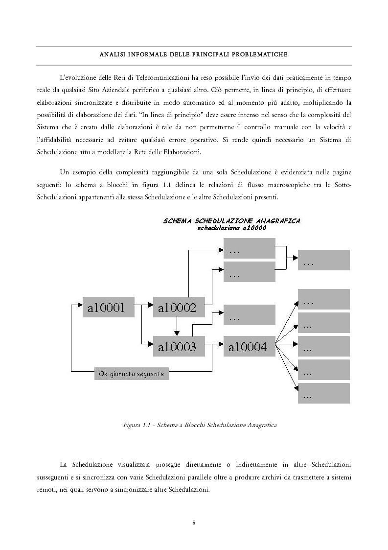 Anteprima della tesi: Analisi e Progetto di un Ambiente Integrato per la Schedulazione di Elaborazioni Orientato alla gestione dei Sistemi Informativi di una Azienda Commerciale, Pagina 6