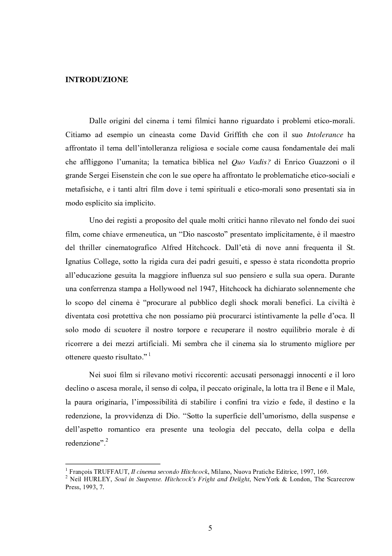 Anteprima della tesi: L'immagine della morale nei film di Alfred Hitchcock, Pagina 1