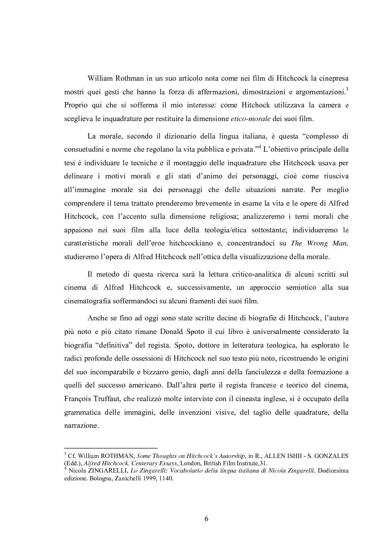 Anteprima della tesi: L'immagine della morale nei film di Alfred Hitchcock, Pagina 2