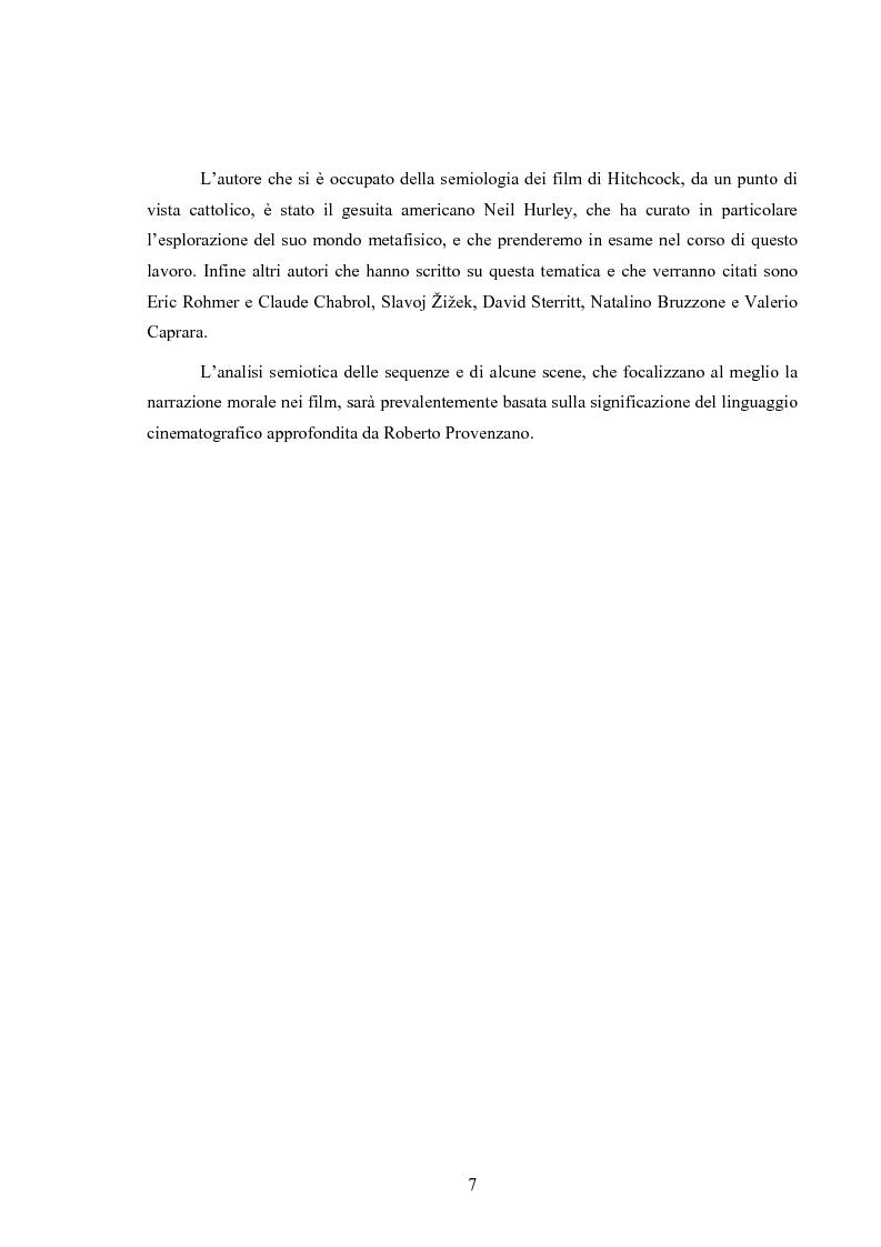 Anteprima della tesi: L'immagine della morale nei film di Alfred Hitchcock, Pagina 3