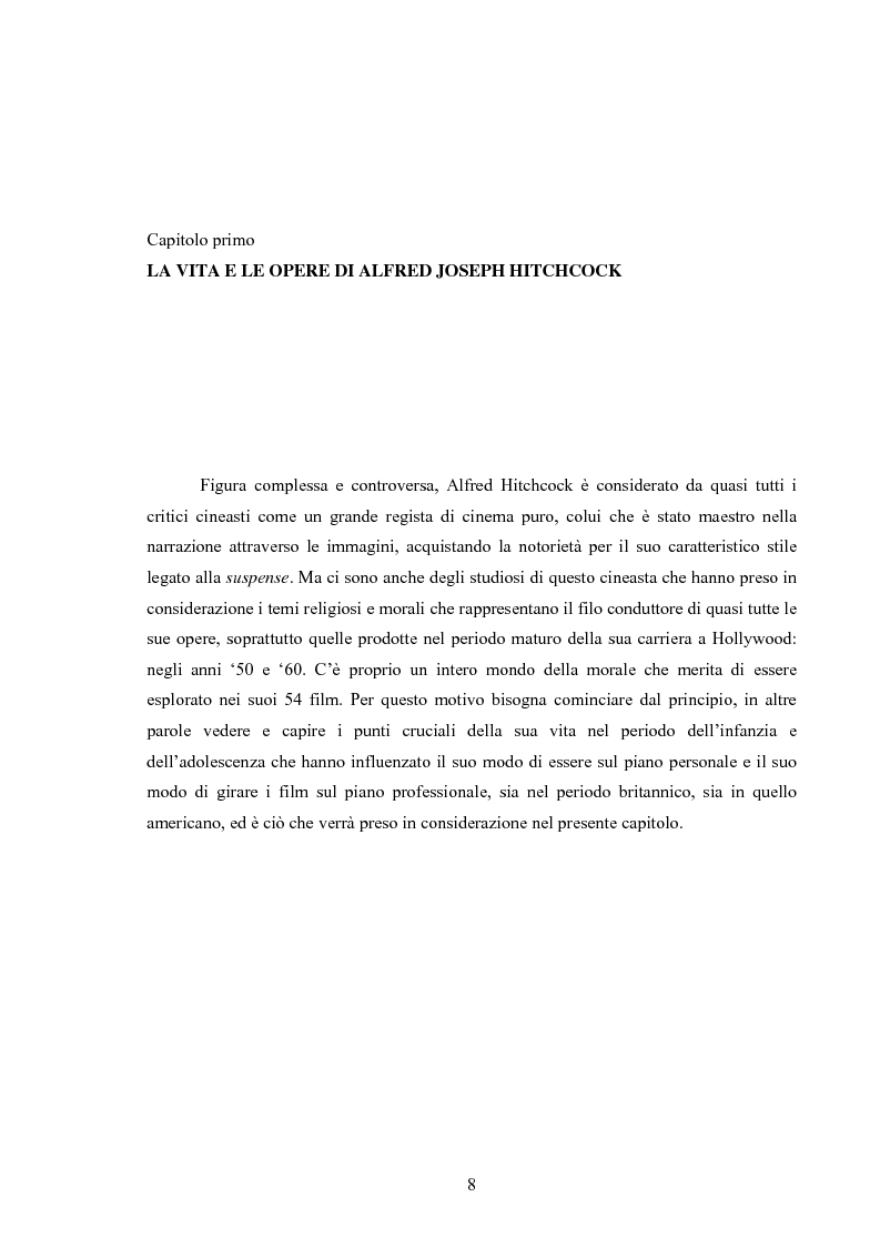 Anteprima della tesi: L'immagine della morale nei film di Alfred Hitchcock, Pagina 4