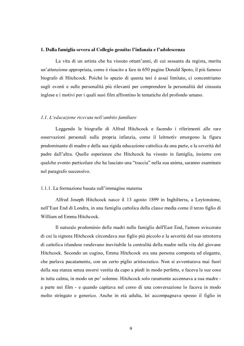 Anteprima della tesi: L'immagine della morale nei film di Alfred Hitchcock, Pagina 5