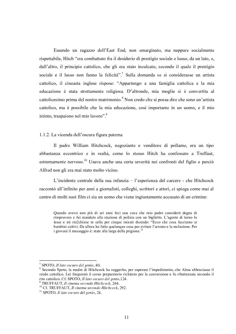Anteprima della tesi: L'immagine della morale nei film di Alfred Hitchcock, Pagina 7