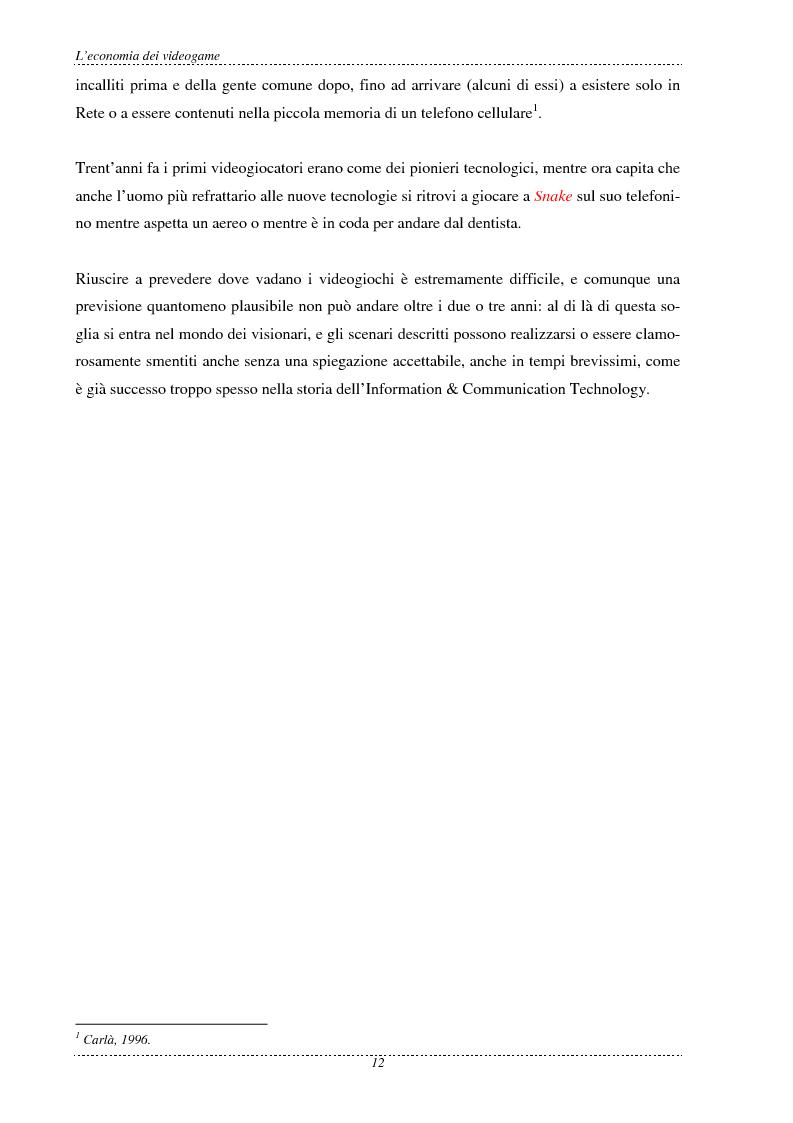 Anteprima della tesi: L'economia dei videogame, Pagina 4