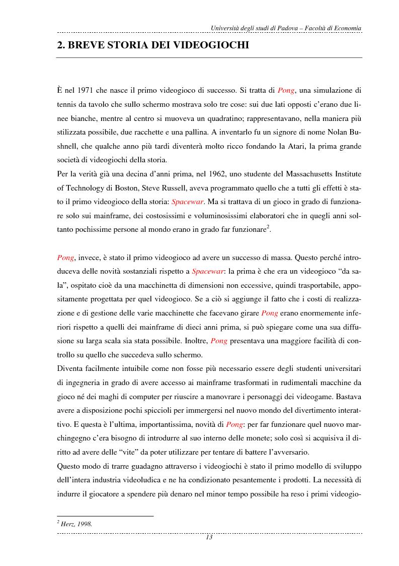 Anteprima della tesi: L'economia dei videogame, Pagina 5