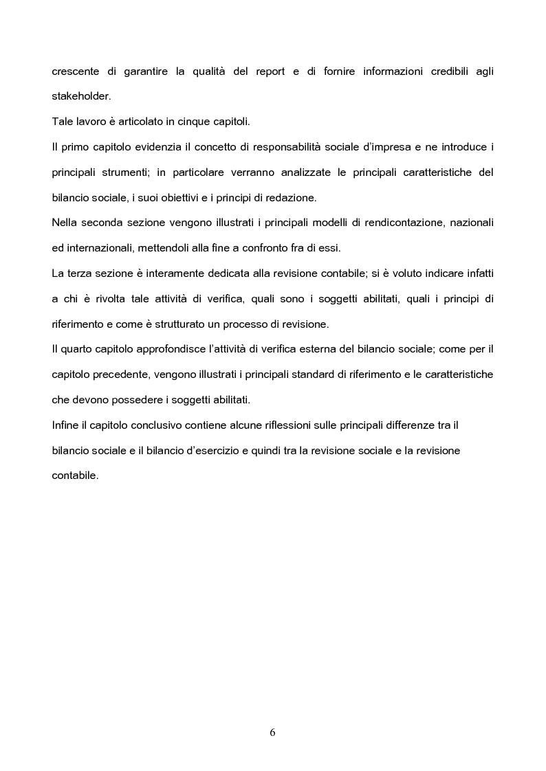 Anteprima della tesi: I Principi di revisione del Bilancio Sociale, Pagina 2