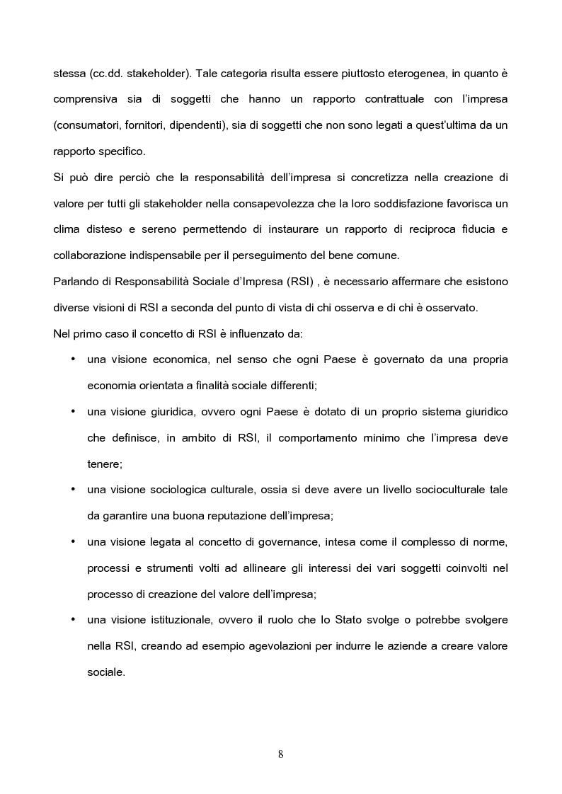 Anteprima della tesi: I Principi di revisione del Bilancio Sociale, Pagina 4