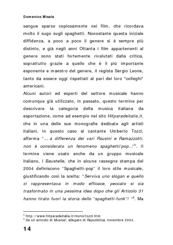 Anteprima della tesi: ''Spaghetti-pop''. Il caso Pausini e il successo internazionale dei cantanti italiani. Fenomenologia e processi comunicativi della musica leggera italiana., Pagina 14