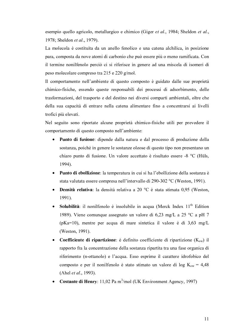 Anteprima della tesi: Interazione tra un alteratore endocrino riconosciuto, il nonilfenolo, e la comunità microbica di un refluo urbano., Pagina 11