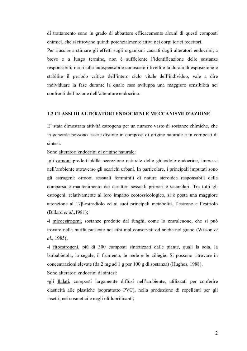 Anteprima della tesi: Interazione tra un alteratore endocrino riconosciuto, il nonilfenolo, e la comunità microbica di un refluo urbano., Pagina 2