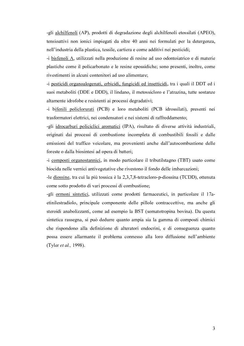 Anteprima della tesi: Interazione tra un alteratore endocrino riconosciuto, il nonilfenolo, e la comunità microbica di un refluo urbano., Pagina 3